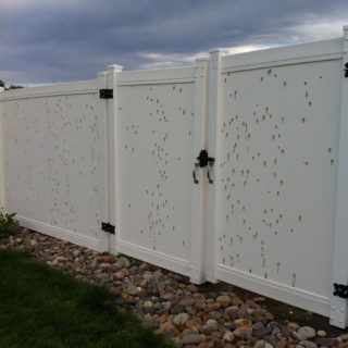 Vinyl Fencing with Hail Damage